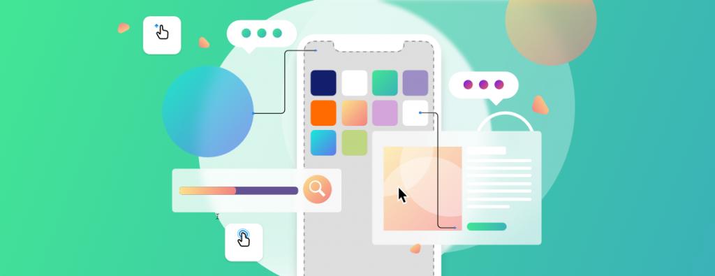 illustrazione web app