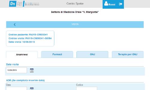 """web app per il settore di medicina orale """"Margiotta"""""""