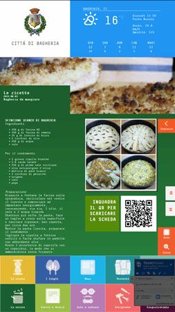 schermata delle ricette di bagheria