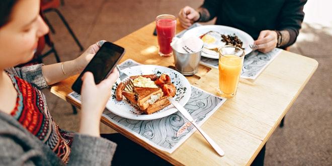 al ristorante con un'app